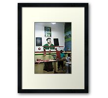 The Butcher Framed Print