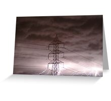 Lightning Storm,Grovedale Geelong Greeting Card