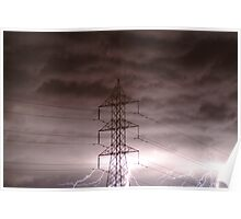 Lightning Storm,Grovedale Geelong Poster