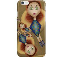 Inner Child - Girls Swingning in the Spring Breeze iPhone Case/Skin