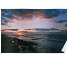 Galveston, TX sunrise Poster