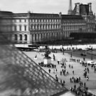 Louvre and the Eiffel Tower - Paris France by Norman Repacholi