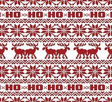 Ho Ho Ho Ugly Holiday Sweater Pattern by RexLambo
