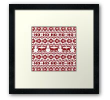 Ho Ho Ho Ugly Holiday Sweater Pattern Framed Print