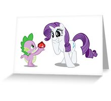 Rarity and Spike Greeting Card
