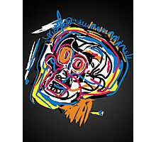 Jean Michel Basquiat Head Photographic Print