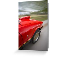 Red Ford XE ESP rig shot Greeting Card