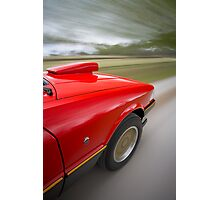 Red Ford XE ESP rig shot Photographic Print