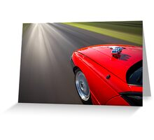 Red Holden VN Commodore rig shot Greeting Card