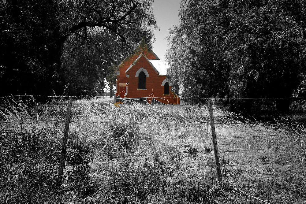 Country church by Laz Moutafis