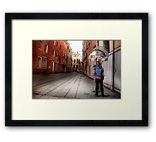Venice Phone Call Framed Print