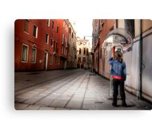 Venice Phone Call Canvas Print