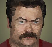 Ron Swanson Geometric Minimalist  by AquanautStudio