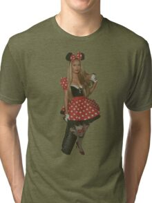 Paris Hilton Minnie Mouse Tri-blend T-Shirt