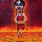 """""""Summer"""" (Red Dust Girl series) Oil on Canvas by Leith"""