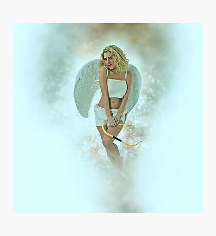 Cupid (Greek Eros) the god of desire, affection and erotic love  Photographic Print