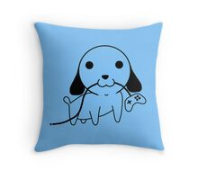 Gamepad Puppy Throw Pillow