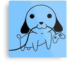 Gamepad Puppy Metal Print