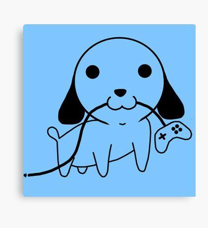 Gamepad Puppy Canvas Print