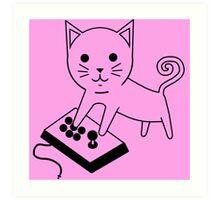 Arcade Kitten Art Print