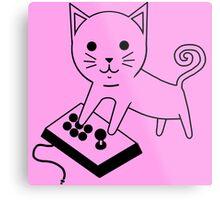 Arcade Kitten Metal Print