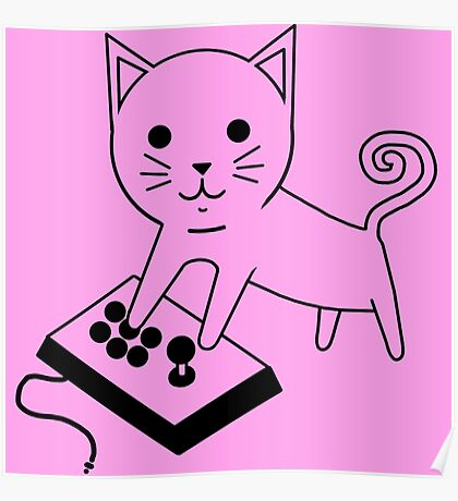 Arcade Kitten Poster