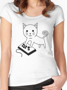 Arcade Kitten Women's Fitted Scoop T-Shirt