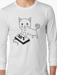Arcade Kitten Long Sleeve T-Shirt