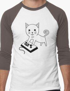 Arcade Kitten Men's Baseball ¾ T-Shirt