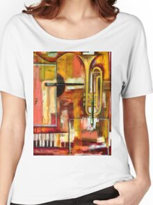 """Jazz is Art, Art is Jazz"" Women's Relaxed Fit T-Shirt"
