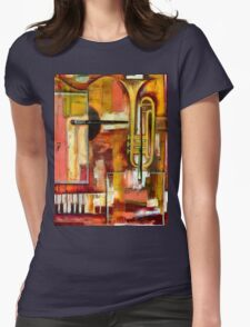 """Jazz is Art, Art is Jazz"" Womens Fitted T-Shirt"