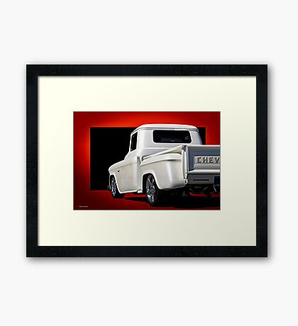 1956 Chevrolet Custom Stepside Pickup   Framed Print