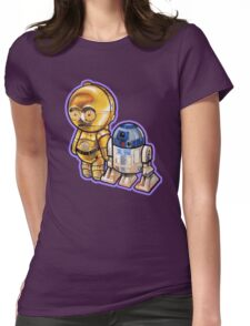 """DROID LOVE"" POOTERBELLIES Womens Fitted T-Shirt"