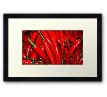 Chilli Red Framed Print