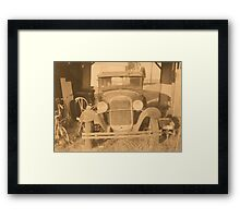 """Rumor Has it, Bonnie and Clyde Made a Visit, Recently""... prints and products Framed Print"