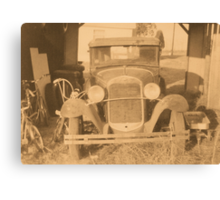 Rumor Has it... Bonnie and Clyde Made a Visit Recently Canvas Print