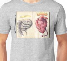 Brain vs Heart Unisex T-Shirt