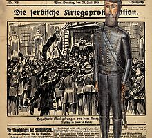 Soldier on Newspaper Collage by Vincent68