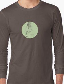 polly-anna (b/w vintage green) Long Sleeve T-Shirt