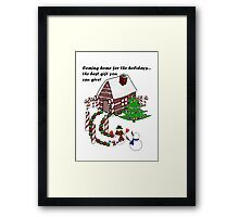 Snowman - Homecoming for the Holidays Framed Print