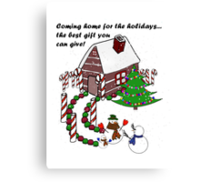 Snowman - Homecoming for the Holidays Canvas Print