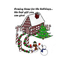 Snowman - Homecoming for the Holidays Photographic Print
