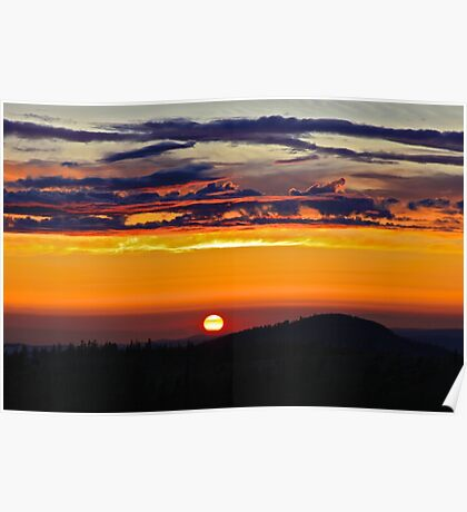 Smokey Scarlet Sunset Poster