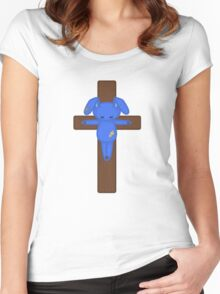 Bunny on the Cross Women's Fitted Scoop T-Shirt