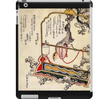 'A Robin As A Present' by Katsushika Hokusai (Reproduction) iPad Case/Skin