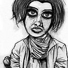 Cafe Girl 1 (early charcoal) by Leith