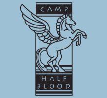 Camp Half-Blood Shirt (Black Design) One Piece - Short Sleeve