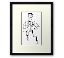 """Forrest Gump- """"Is he smart.."""" Framed Print"""