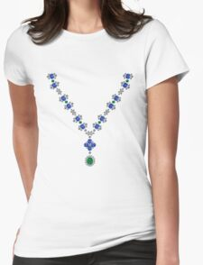 Serenity Necklace Womens Fitted T-Shirt
