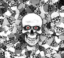 Skulls With Eyes by Phil Perkins